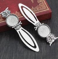 Закладка металлическая Сова серебро