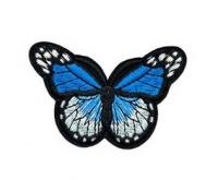 Аппликация, нашивка Бабочка голубая
