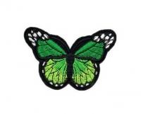 Аппликация, нашивка Бабочка зеленая