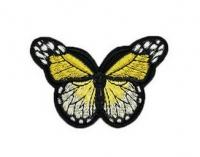Аппликация, нашивка Бабочка желтая