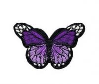 Аппликация, нашивка Бабочка сиреневая