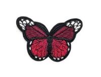 Аппликация, нашивка Бабочка красная