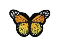 Аппликация, нашивка Бабочка оранжевая