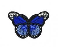 Аппликация, нашивка Бабочка синяя