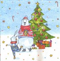 Трехслойная салфетка для декупажа Зимние каникулы