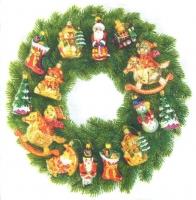 Салфетка для декупажа Рождественский венок