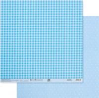 Бумага «Голубая. Клетка и горошек»