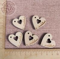 Бирка « С любовью» сердце