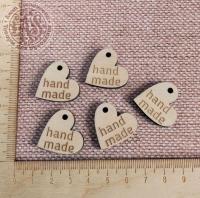 Бирка « hand made» сердце