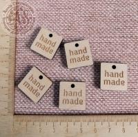 Бирка «hand made» квадрат