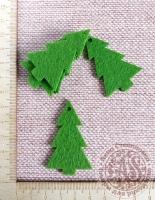 Ёлочки из фетра оливково-зелёные