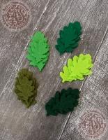 Листья из фетра Дуб летний