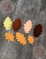 Листья из фетра Дуб осенний