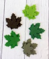 Листья из фетра Клен летний