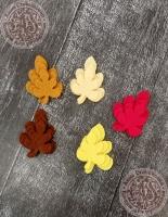 Листья из фетра Фигурные осенние