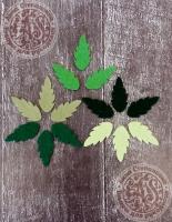 Листья из фетра Рябина летняя