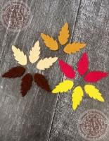 Листья из фетра Рябина осенняя