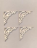 Уголки накладные «Узор №11-мини» из фанеры