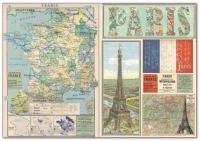 Бумага рисовая для декупажа «Карта Франции»