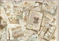 Бумага рисовая для декупажа «Письма и кружево»