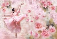 Карта рисовая «Танцовщица и розы»