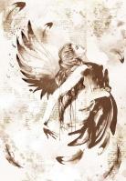 Декупажная рисовая карта «Крылья»