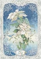Бумага рисовая Poinsettia белая