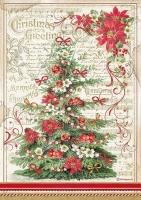 Бумага рисовая Рождественская ель
