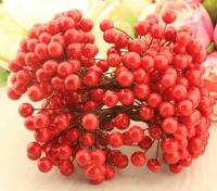 Букет ягод на проволоке красные 11 мм
