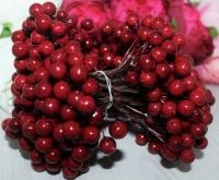 Букет ягод на проволоке темно-красные 11 мм