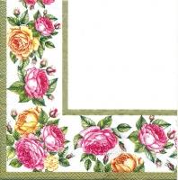 Салфетка для декупажа «Розы. Бордюр»