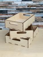 Поднос-ящик деревянный, набор 3 шт