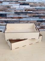 Поднос-ящик деревянный, набор 2 шт