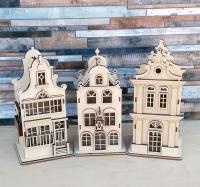 Голландия - чайные домики. Набор 3 шт.