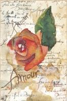 Бумага рисовая Розы и поэзия