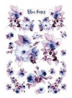 Бумага рисовая Голубые розы