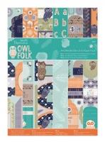 Набор бумаги для скрапбукинга и бумаги с высечкой Owl Folk