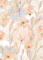 Бумага рисовая Акварельные цветы