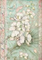 Бумага рисовая Белая орхидея