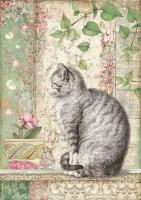 Бумага рисовая Кошечка