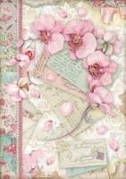 Бумага рисовая Розовая орхидея