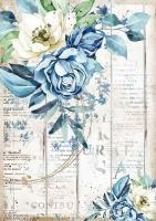 Бумага рисовая Морская мечта. Голубой цветок