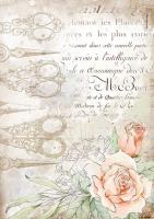 Бумага рисовая Ножницы и розы