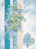 Бумага рисовая Нежно-голубые цветы