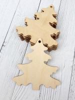 Набор ёлочных игрушек из дерева Ёлочка №1
