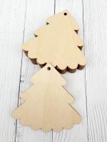 Набор ёлочных игрушек из дерева Ёлочка №2