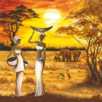 Цветной листовой войлок с рисунком «Африка»