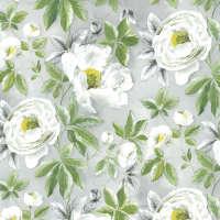 Цветной листовой войлок с рисунком «Белые розы»