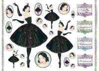 Бумага рисовая для декупажа «Балерина»