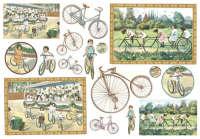 Бумага рисовая для декупажа «Велосипед»